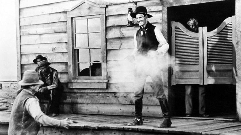 Jack Palance i Mannen från vidderna. ©Paramount