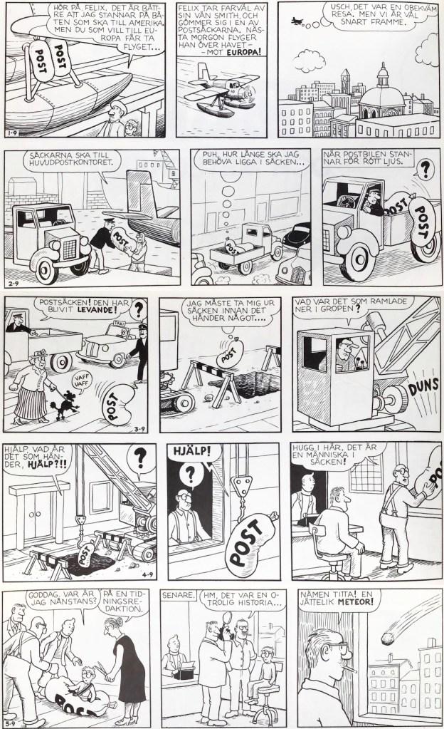 De inledande stripparna till episoden saknades i Comics. ©PIB