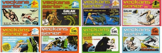 Omslag till Veckans serier med Galak, pojken från havet. ©Semic