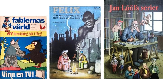 Några av de publikationer som publicerat episoden. ©Semic/Carlsen/Kartago