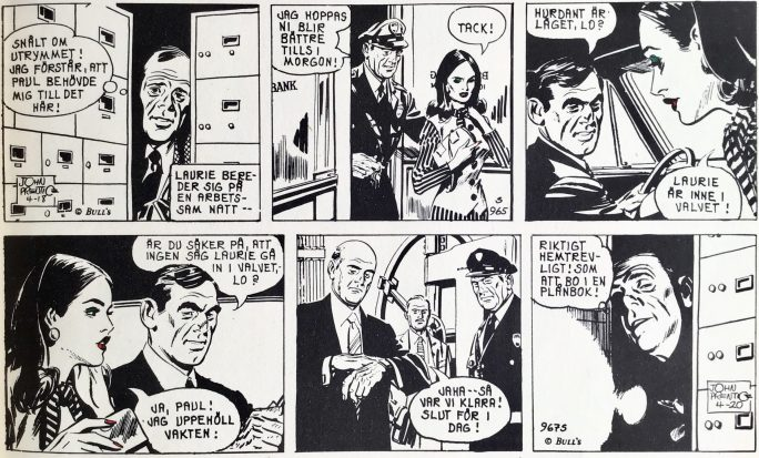 Två dagsstrippar från 18 och 20 april 1968, ur Comics nr 1. ©Bulls