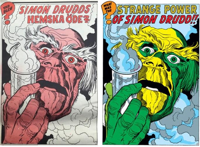 Inledande bild till serien i Serie-Pressen nr 2, 1971, och i Tales to Astonish #10 (1960). ©Marvel