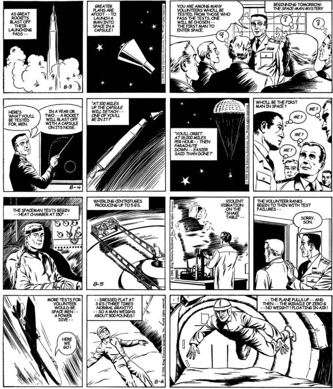 Motsvarande strippar i original från 3-6 augusti 1959. ©KFS