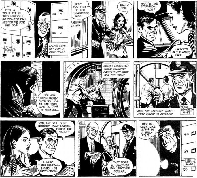Motsvarande dagsstrippar i original, inkl. 19 april som saknades i Comics. ©KFS