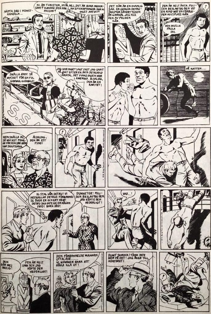 En sida med Mandrake ur Serie-Pressen nr 14, 1972. ©Bulls