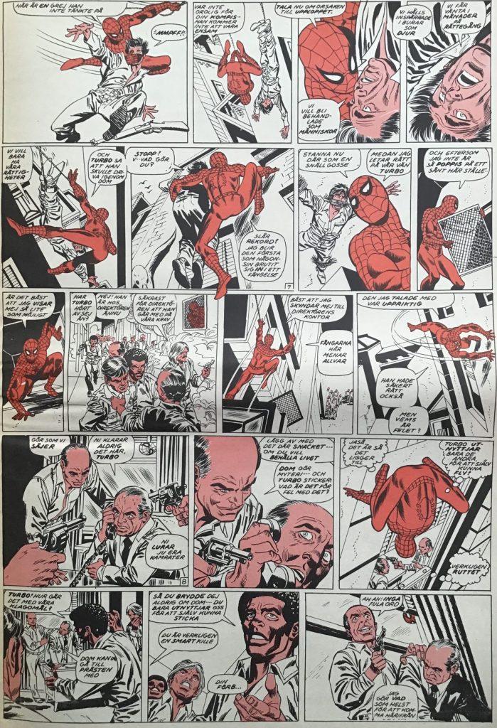 En sida ur Serie-Pressen nr 1, 1972. ©Marvel