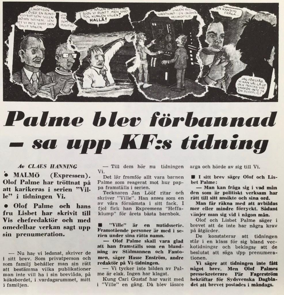 Artikel ur Expressen från 14 november 1975. ©Expressen