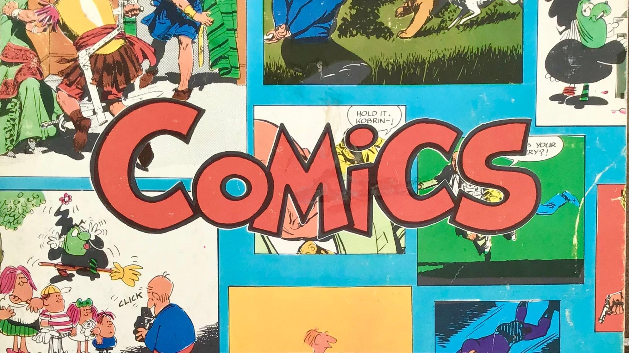 Omslag till Comics, den stora serieboken, nr 2. ©Illustrationsförlaget