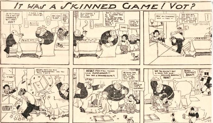 En söndagsstripp med The Fineheimer Twins av H. H. Knerr från 14 april 1907.