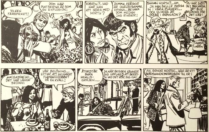 Ett par dagsstrippar med Friday Foster, ur Comics nr 2. ©PIB