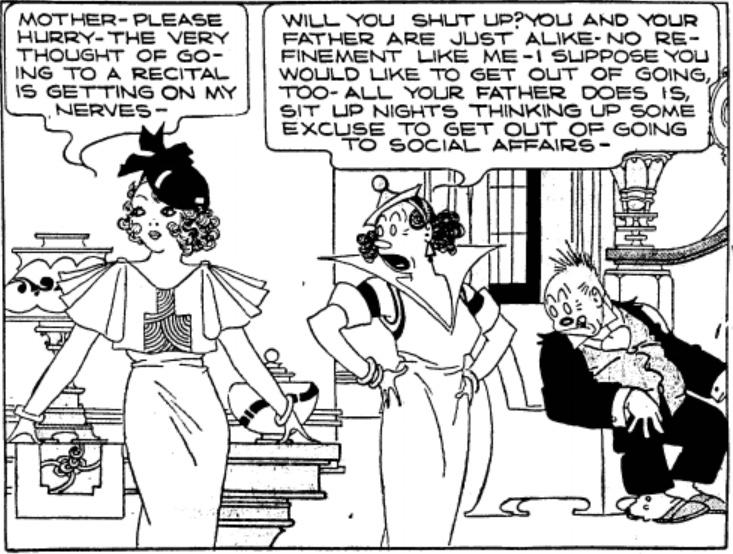 En serieruta ur söndagssidan från 3 maj 1936. ©KFS