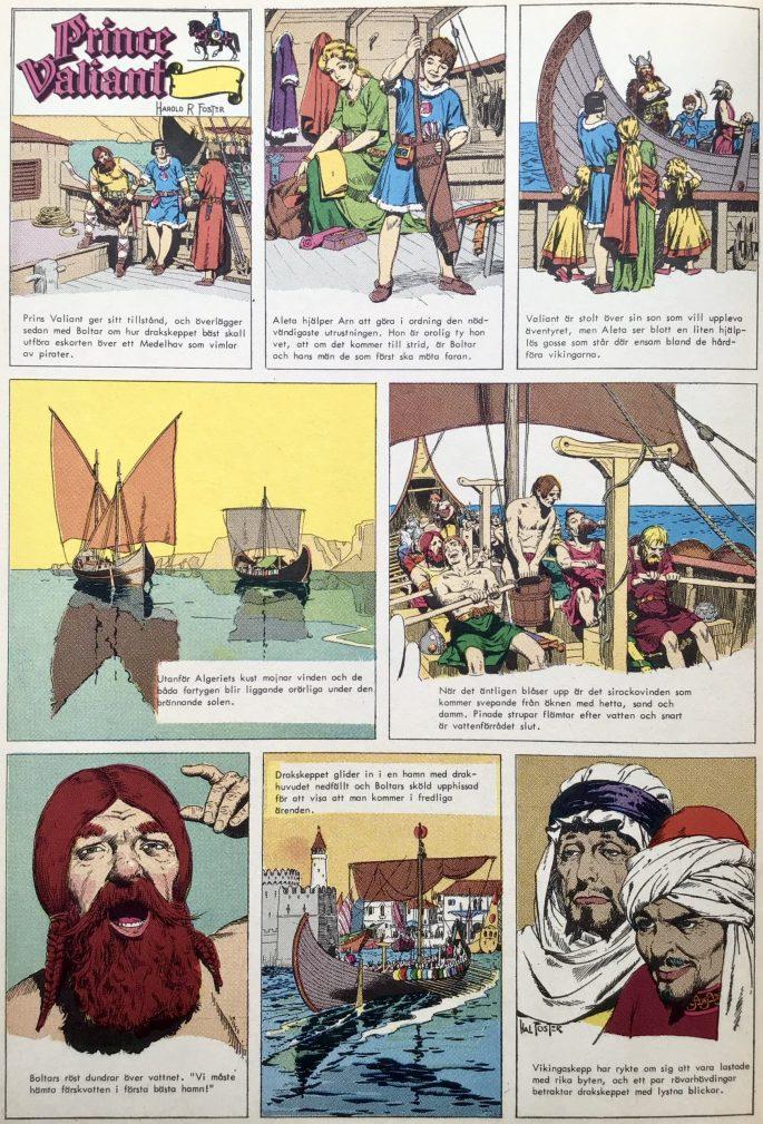 En sida med Prins Valiant ur Comics nr 2. ©Bulls