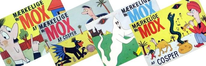 Samlingsvolymer med den Mærkelige Mr. Mox, från 1951-54. ©Socialdemokraten