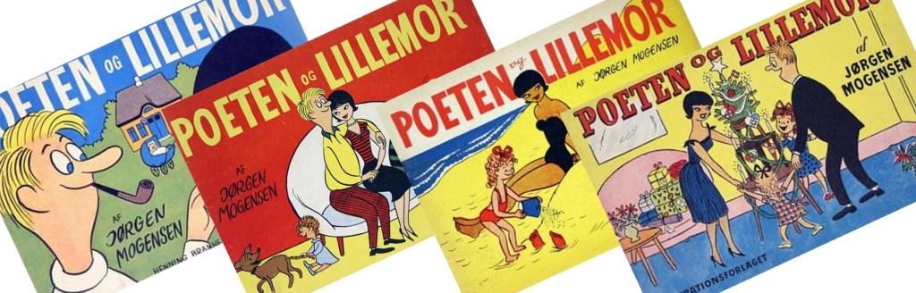 Samlingsvolymer med Poeten og Lillemor från 1950-53. ©Henning Branner/Illustrationsforlaget