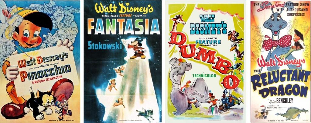 Walt Kelly medverkade som animatör i Disney-filmer. ©RKO/Disney
