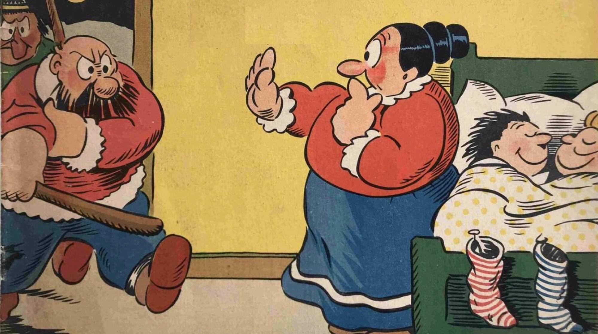 Knoll och Tott (omslag till julalbum 1946)