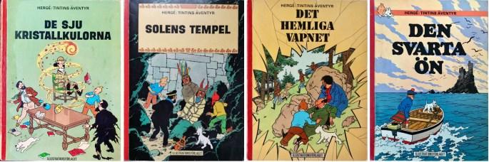 Tintins äventyr (1968). ©Illustrationsförlaget