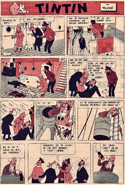 Den mystiska stjärnan med Tintin ur Året Runt 1959. ©PIB