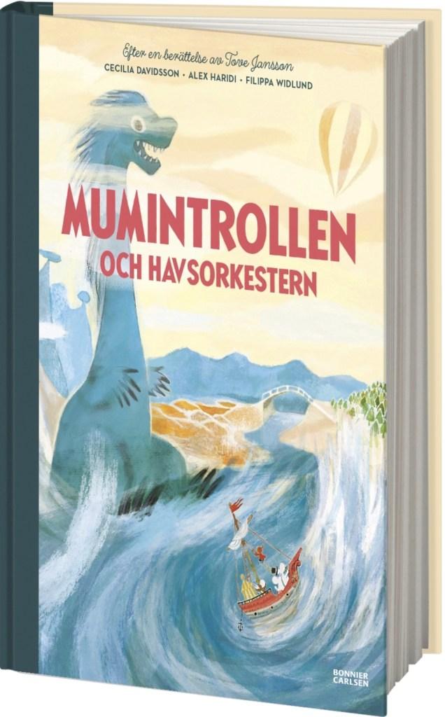 Omslag till bilderboken Mumintrollen och havsorkestern. ©Bonnier/Carlsen