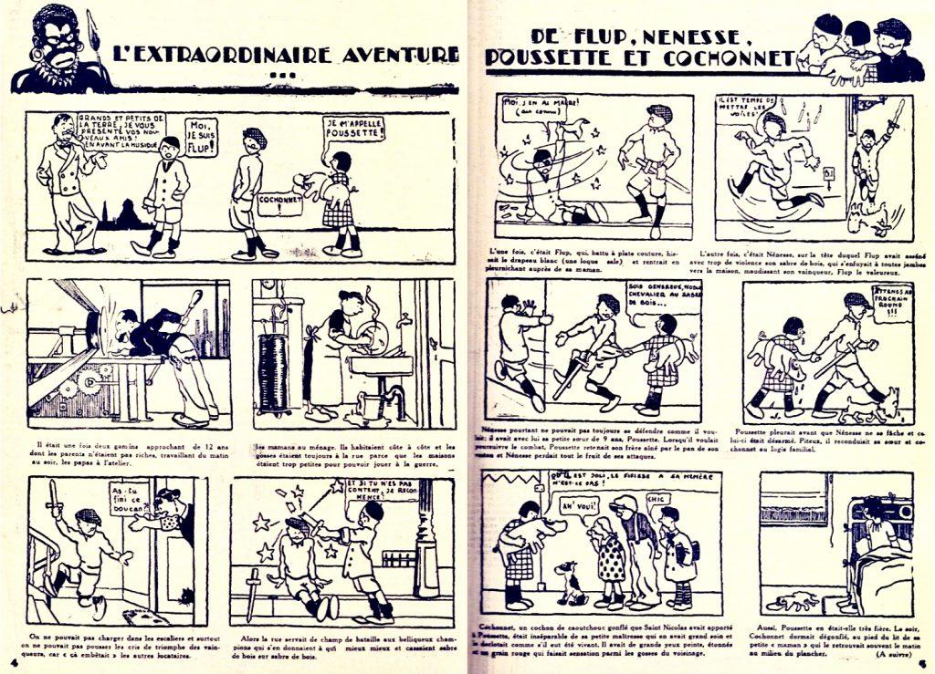 De första serierna av Hergé var snarare bildberättelser än fullfjädrade serier. ©Hergé-Moulinsart