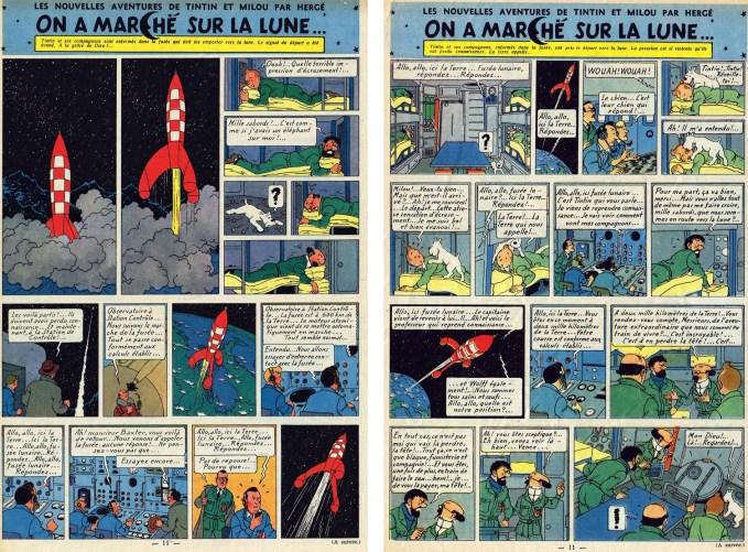 Det 55:e och 56:e införandet i Le Journal de Tintin. ©Hergé-Moulinsart