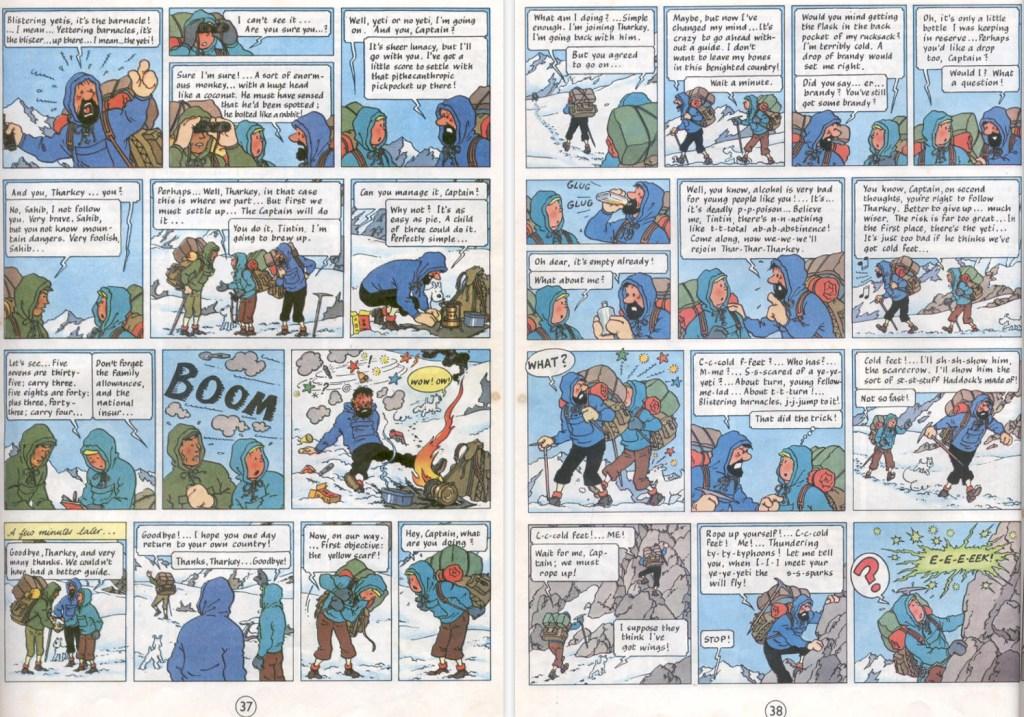 Seriealbumet saknar en sida ur Journal de Tintin, som omfattade 63 sidor. ©Hergé-Moulinsart