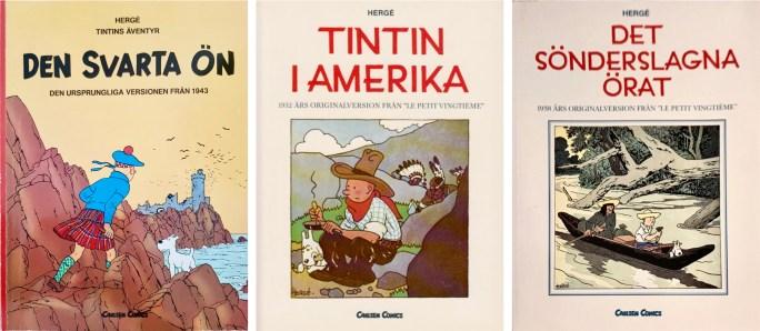 Tre utgåvor med originalversioner (1988-94). ©Carlsen Comics