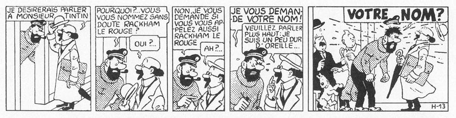 Tintin och kapten Haddock träffar professor Kalkyl för första gången. ©Hergé-Moulinsart