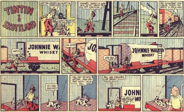 Tintin i Skottland gick i veckotidningen 25:an. ©PIB