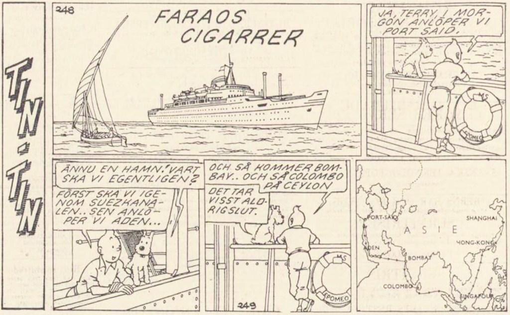 Tin-Tin ur Dagens Nyheter från 11 januari 1962. ©PIB
