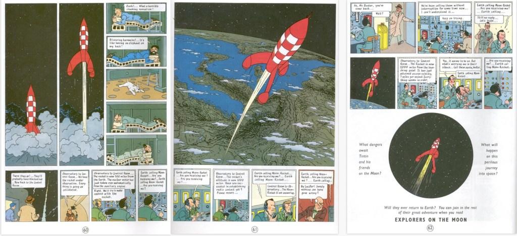 De avslutande sidorna i seriealbumet, del 1. ©Hergé-Moulinsart