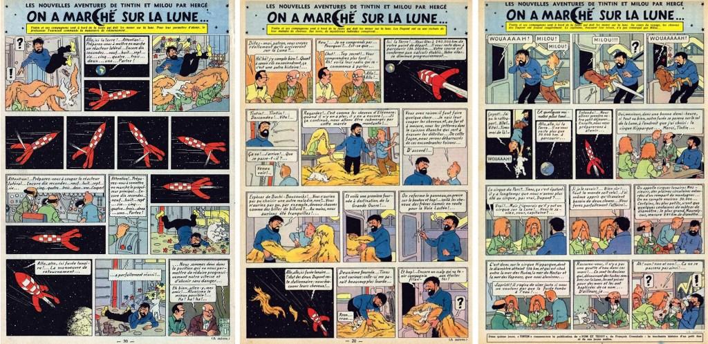 Införande nr 70-72 i Le Journal de Tintin. ©Hergé-Moulinsart
