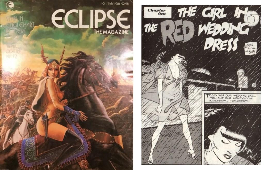 Ms. Tre debuterade med en 8-sidig serie i Eclipse #1 (maj 1981), och har senare förekommit i flera egna serietidningar under 80- och början av 90-talet. ©Eclipse