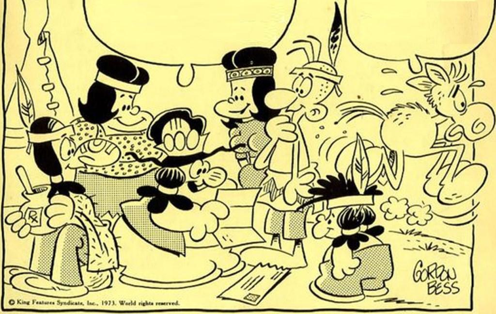 Huvudfigurerna i serien Rödöga (1973). ©KFS