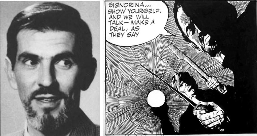 Serietecknaren Jim Holdaway, och hans serie Modesty Blaise.