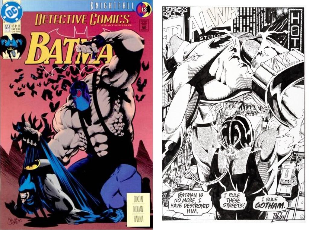 Omslag till Detective Comics #644 av  Kelley Jones och original till Inledande sida av Graham Nolan (skiss) och Scott Hanna (tusch). ©DC Comics