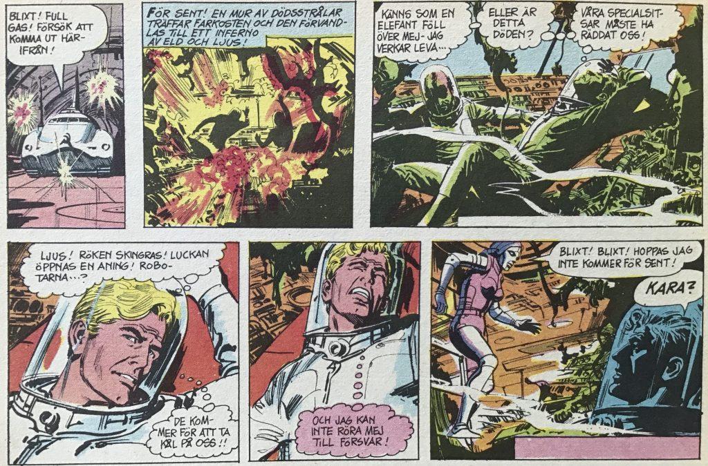 En del av en sida i Comics nr 4, med Blixt Gordon av Dan Barry. ©Bulls