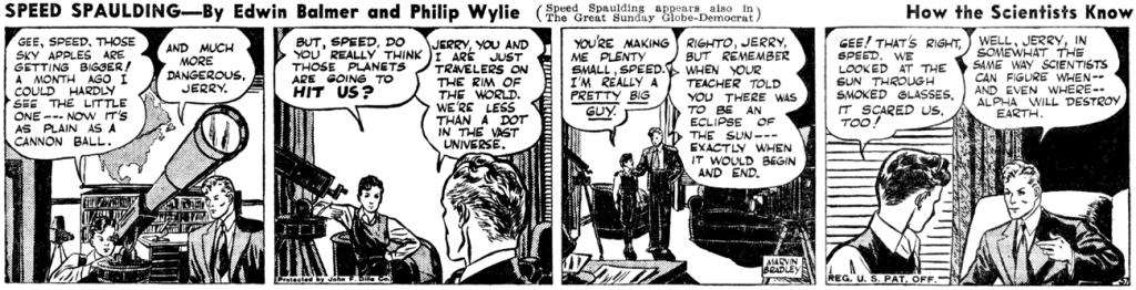En dagsstripp med Speed Spaulding (1940). ©Dille