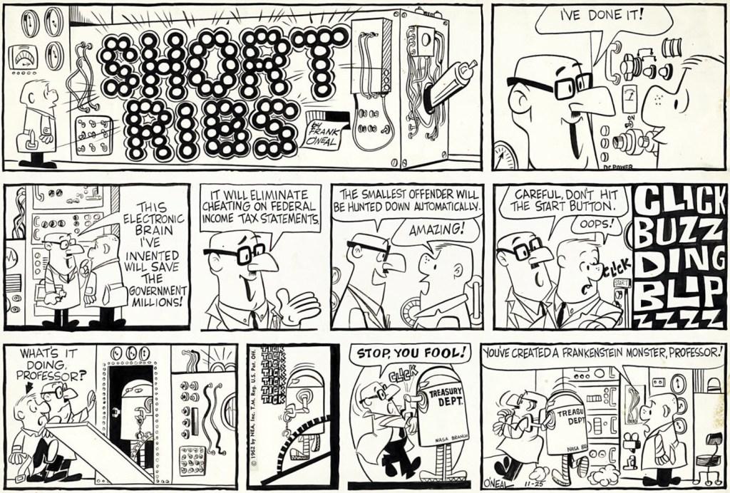 Original till en söndagssida från 25 november 1962. ©NEA