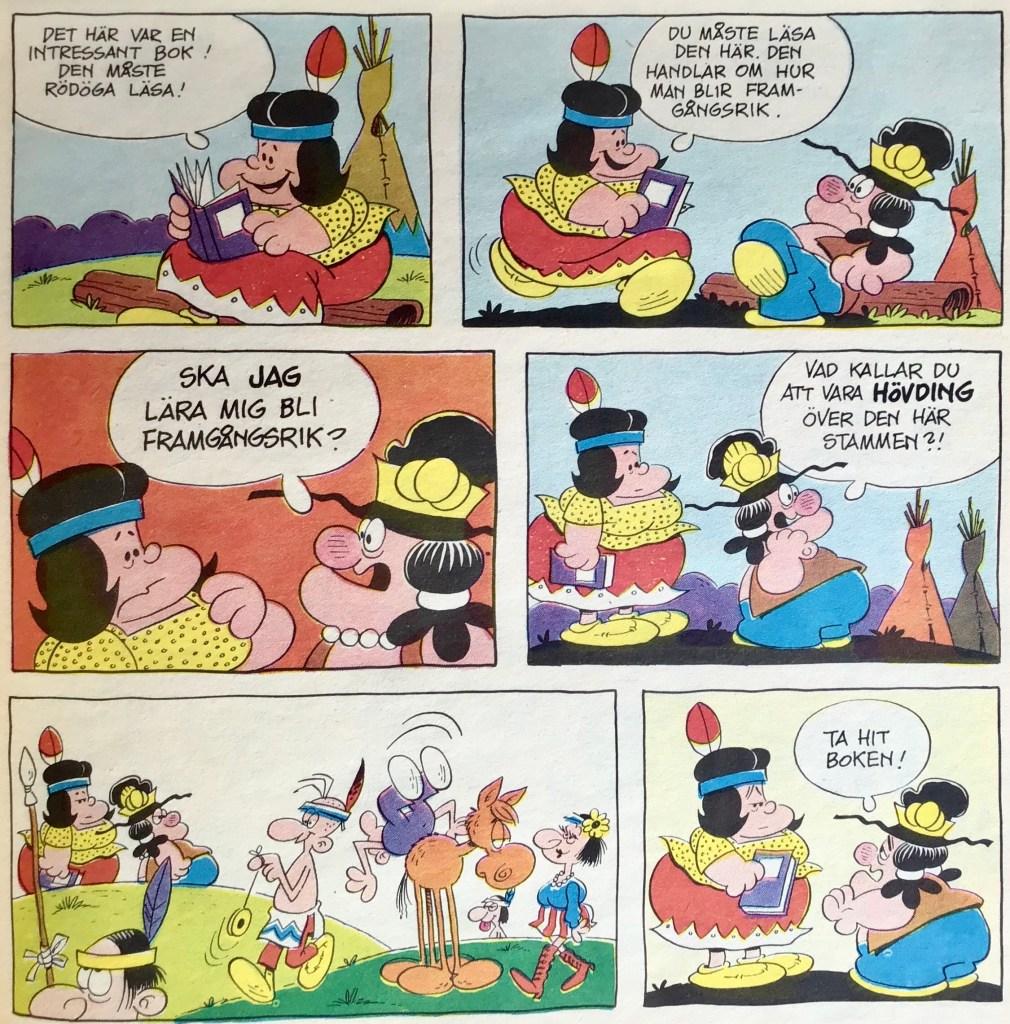 En söndagssida av Gordon Bess, ur Comics nr 4 (1973). ©Bulls