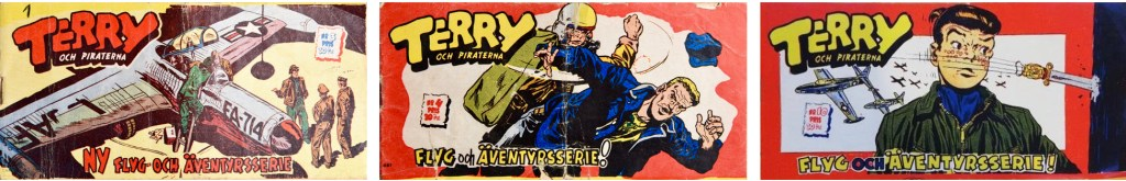 Terry och piraterna nr 3, 4 och 10 (1954). ©Triotidningarna