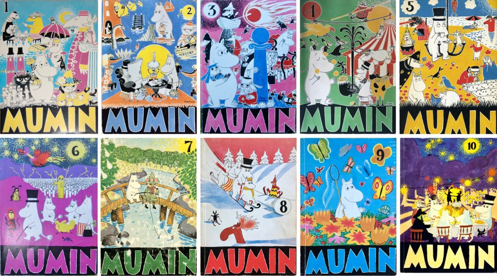 Mumin seriealbum nr 1-10. ©Jensen&Palmgren/Alvglans