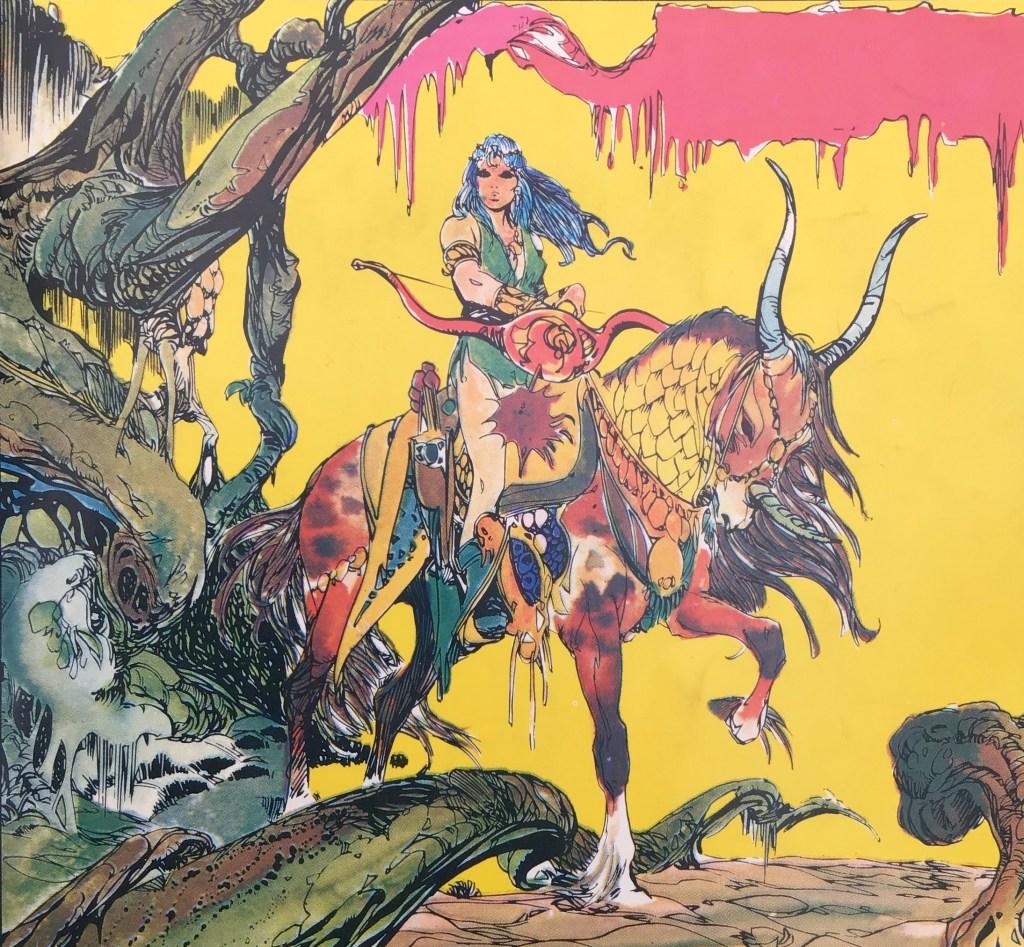 Alma - Drakens själ, från omslaget på Comics nr 7. ©Carlsen/Doncel