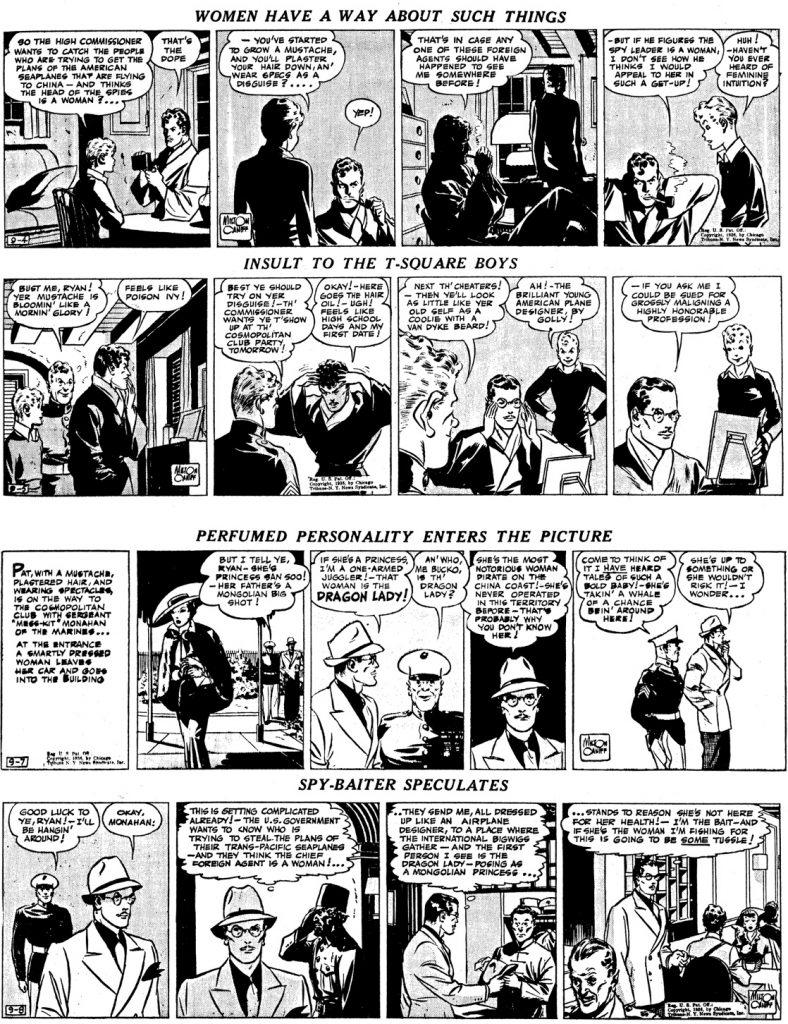 Motsvarande episod som dagsstrippar från 4-5 och 7-8 september 1936. ©CTNYN