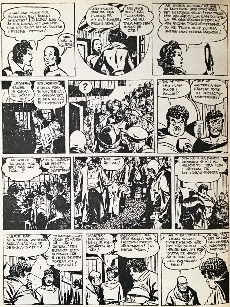 En sida med Terry och piraterna ur Comics nr 5. ©PIB
