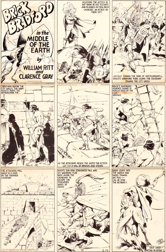 Original till en söndagssida från 14 augusti 1937. ©CPA