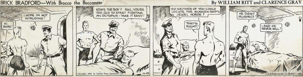 Original,till en dagsstripp från 19 november 1934. ©CPA
