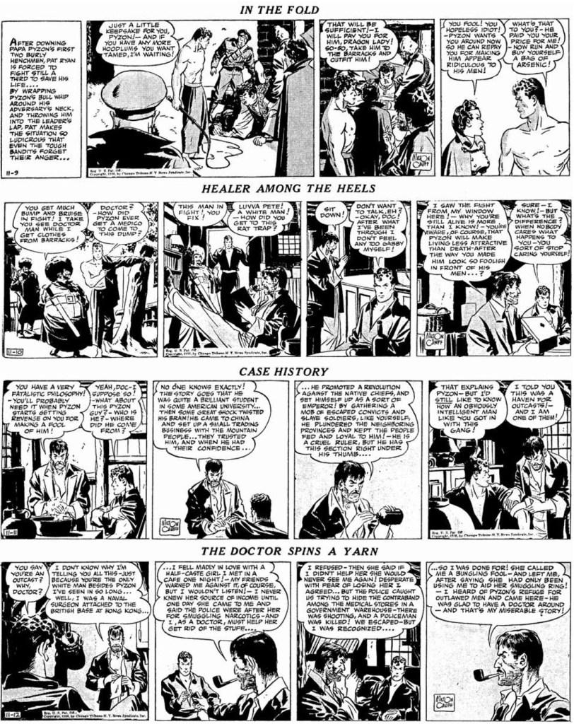 Motsvarande dagsstrippar i original från 9-12 november 1936. ©CTNYN