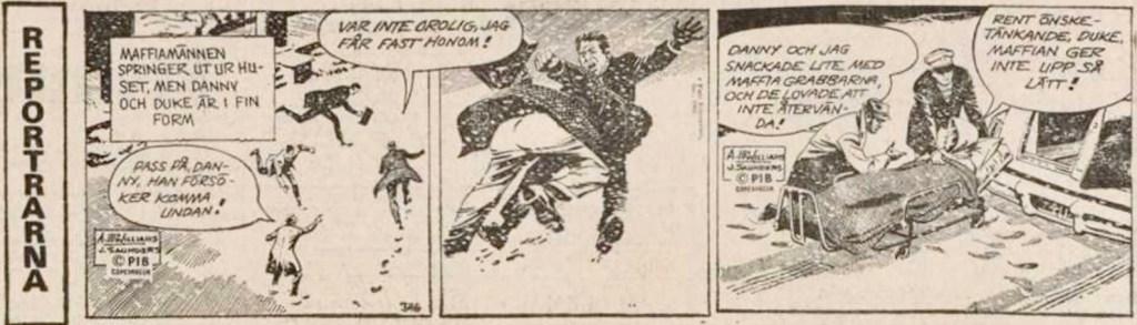 Sista dagsstrippen ur Dagens Nyheter från 26 februari 1977. ©PIB