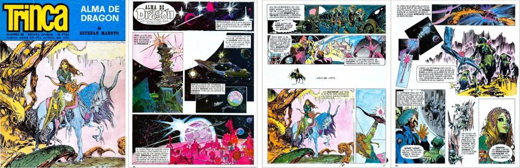 Omslag och inledande sidor med Alma de Dragon, ur Trinca Nº 39, 1972. ©Doncel